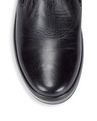 Prada - Black Leather Slip-on Sneakers for Men - Lyst