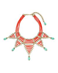 Heidi Daus - Red Swarovski Crystal Beaded Collar Necklace - Lyst