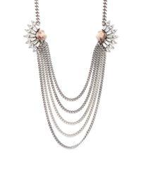 DANNIJO - Metallic Tessa Crystal Necklace - Lyst