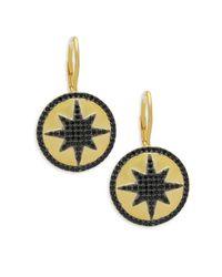 Freida Rothman - Metallic Crystal & Sterling Silver Indigo Armour Earrings - Lyst