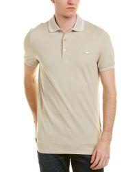 Burberry - Natural Contrast Trim Cotton Piqué Polo Shirt for Men - Lyst