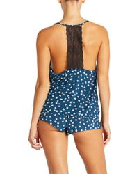 Cosabella - Blue Sweet Dreams Printed Boxer - Lyst