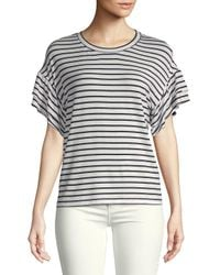 Saks Fifth Avenue - White Ruffle Short-sleeve Top - Lyst