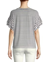 Saks Fifth Avenue - Gray Ruffle Short-sleeve Top - Lyst