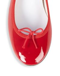 Repetto - Red Bow Patent Leather Pumps - Lyst