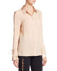 Jonathan Simkhai - Natural Satin Lattice Top - Lyst