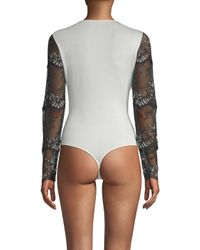 Cosabella - Multicolor Delight Lace Bodysuit - Lyst