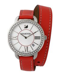 Swarovski Metallic Aila Day Double Tour Berry Watch