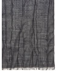 John Varvatos | Gray Printed Heather Wool Scarf for Men | Lyst