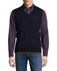 Brooks Brothers - Blue Tipped V-neck Vest for Men - Lyst