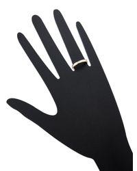 Nephora - Metallic Single Row 14k Yellow Gold & 0.60 Total Ct. Diamond Band Ring - Lyst