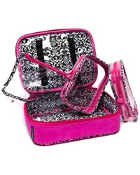 """Melissa Beth - Hot Pink """"kiss And Make Up"""" Cosmetic Bag - Lyst"""