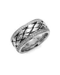 Effy - Metallic Sterling Silver & Diamond Ring - Lyst