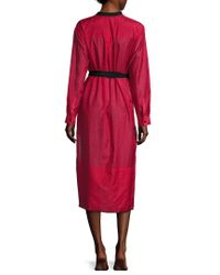 Proenza Schouler - Red Fringe Shirt Dress - Lyst