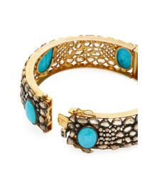 Jyoti New York | Metallic Silver, 7.90 Total Ct. Diamond & Turquoise Bracelet | Lyst