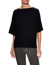 Sea Bleu - Black Cashmere Dolman Scalloped Sweater - Lyst