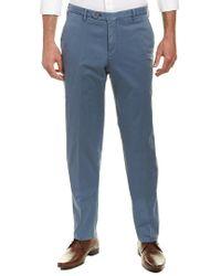 Zanella - Blue Parker Linen-blend Trouser for Men - Lyst