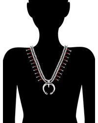 Estate Fine Jewelry - Metallic Vintage Coral Squash Blossom Necklace - Lyst