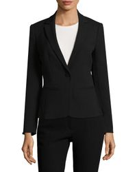 Armani Exchange - Black Solid Notch Blazer - Lyst