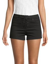 Genetic Denim - Black Monroe High-waist Denim Shorts - Lyst