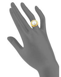 Gurhan - Metallic 24k Gold & White Mabe Freshwater Pearl Ring - Lyst