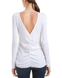 Chaser - White Double V Top - Lyst