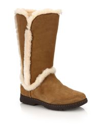 Ugg - Brown Katia Suede, Shearling & Faux Fur Boots - Lyst