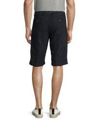 Etro - Blue Solid Linen Shorts for Men - Lyst