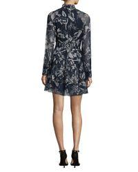 Parker - Black Shelby Floral Silk Dress - Lyst