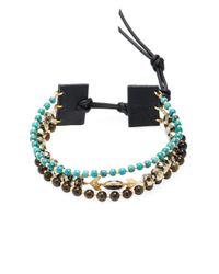 Chan Luu - Black Beaded Semi-precious Stone Cord Bracelet - Lyst