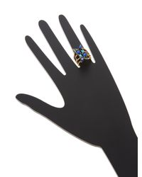 Rebecca Minkoff - Blue Multi Stone Wrap Trend Ring - Lyst
