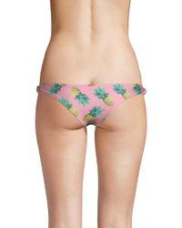 Wildfox - Pink Twist Brazilian Brief - Lyst