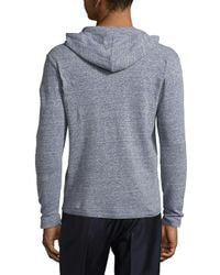 Saks Fifth Avenue | Blue Heathered Linen Hoodie for Men | Lyst