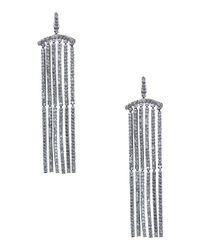 CZ by Kenneth Jay Lane - Metallic Cubic Zirconia Dangle Earrings - Lyst
