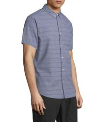 Life After Denim - Blue Zipline Cotton Sportshirt for Men - Lyst