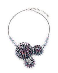 Swarovski - Metallic Multi-color Crystal Bib Necklace - Lyst