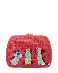 Serpui - Lolita Dog Embroidered Clutch Bag - Lyst