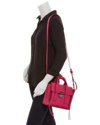3.1 Phillip Lim - Pink Pashli Mini Leather Satchel - Lyst