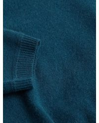 Autumn Cashmere - Blue Cashmere Modified V-neck Sweater for Men - Lyst