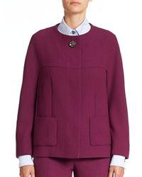 ESCADA - Purple Jewel-button Wool Jacket - Lyst