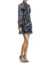 Parker - Black Shelby Floral Silk Dress - Lyst