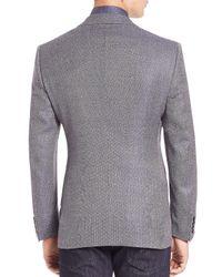 Giorgio Armani - Gray Micro Check Wool Sportscoat for Men - Lyst