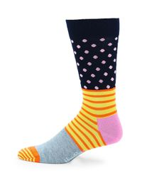 Happy Socks - Multicolor Mixed-print Crew Socks - Lyst