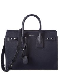 Saint Laurent - Blue Small Sac De Jour Souple Leather Tote - Lyst