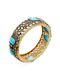 Jyoti New York - Metallic Silver, 7.90 Total Ct. Diamond & Turquoise Bracelet - Lyst