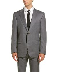 Canali Gray Wool Suit With Flat Front Pant for men
