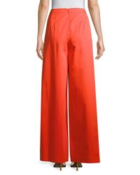 Carolina Herrera - Red Wide-leg Pants - Lyst