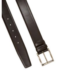 A.Testoni - Brown Leather Belt for Men - Lyst