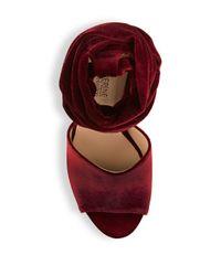Catherine Malandrino - Red Venitah Ankle Tie Dress Sandals - Lyst