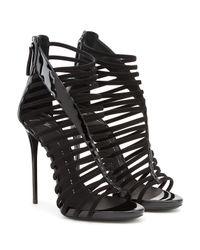 Giuseppe Zanotti | Black Strappy Studded Leather Platform Sandals | Lyst